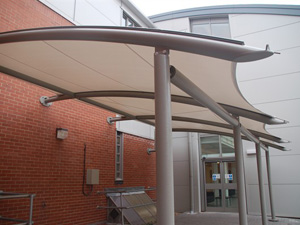 Example Exterior Fabric Walkway Canopy