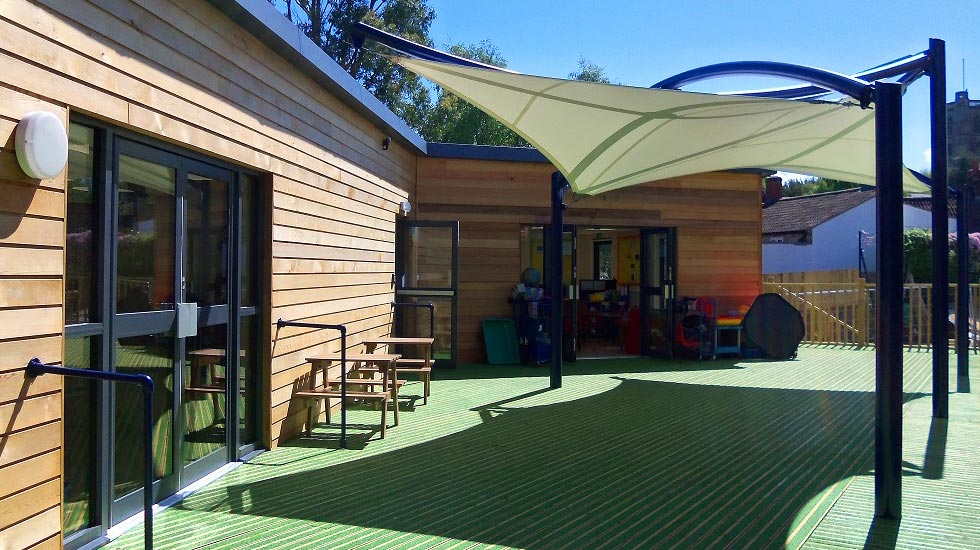 School playground fabric canopy