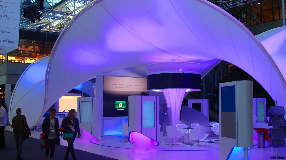 Tensioned fabric exhibition stands