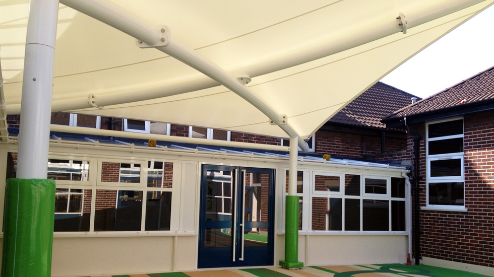 Outdoor canopies for playgrounds